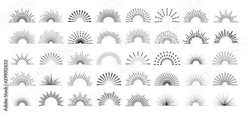 Obraz 太陽 線画セット - fototapety do salonu