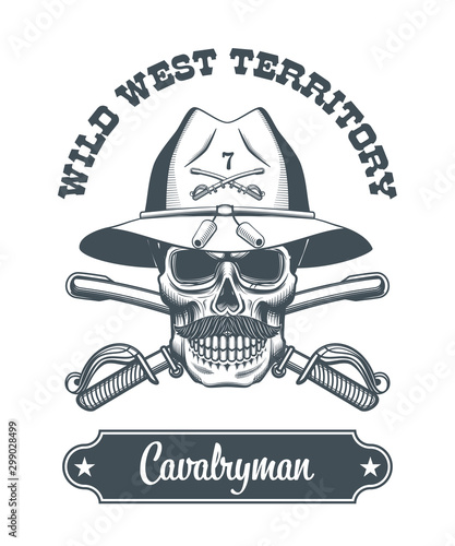 Photo cavalryman skull logo