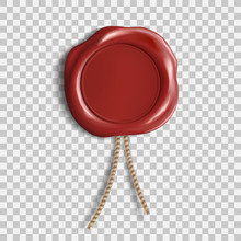Red Wax Seal. Template Isolate...