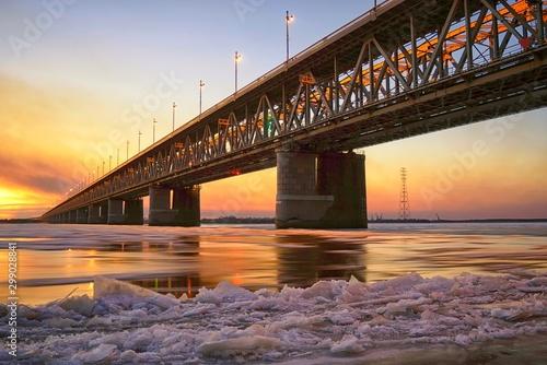 Fotografie, Tablou  Amur bridge