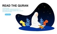 Muslim Reading The Quran Islam...