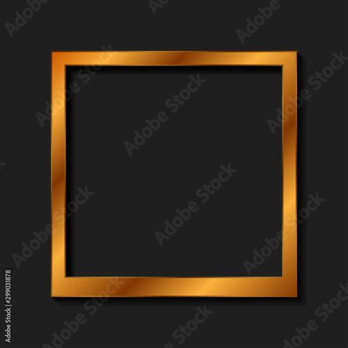 Photo Vintage realistic golden blank instant photo frame
