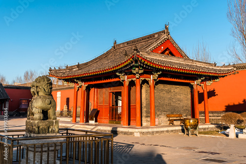 Shenyang Imperial Palace (Mukden Palace) was the former imperial palace of the early Manchu-led Qing dynasty and UNESCO world heritage site built in 400 years ago Canvas Print
