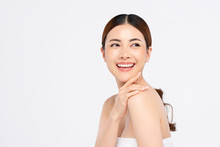Youthful Smiling Asian Woman For Beauty And Skin Care Concepts