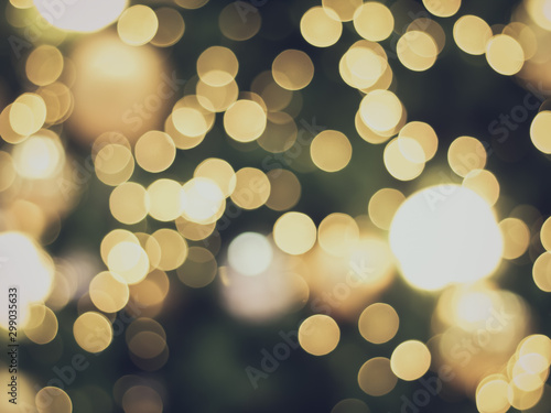 Obraz green and yellow bokeh background - fototapety do salonu