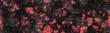 Leinwanddruck Bild - Glow faded flame- natural pattern