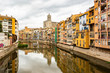 Girona cityscape river bridge