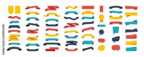 Colorful Vector Ribbon Banners Fototapete
