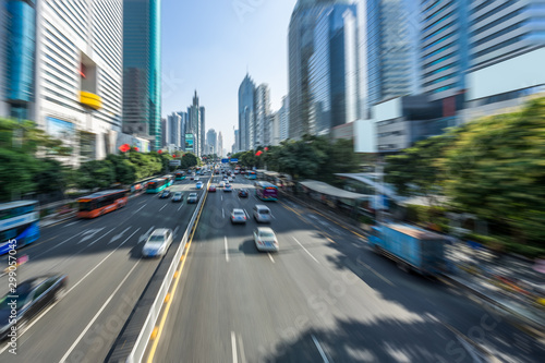 urban traffic street in city of China. - 299057045