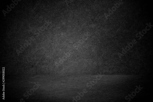 Empty concrete black room,copy space  background for design - 299058022