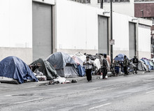 Skid Row In Los Angeles, Calif...