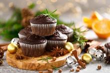 Christmas Muffins. Chocolate X...