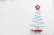 Christmas greeting card with fir tree shape
