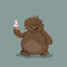 Little Bigfoot In Cartoon Styl...