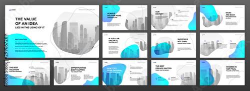 Pinturas sobre lienzo  Business presentation templates set