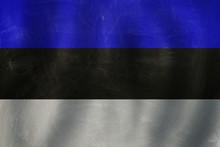 Estonia Concept With Estonian Flag Background