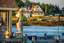 Maine Coastline Dock