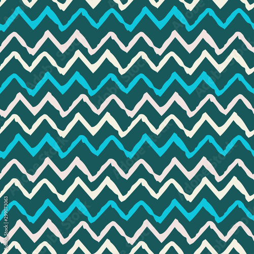Obraz na plátně Seamless pattern with waves
