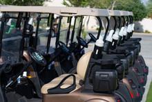 Golf Cart On A Golf Closure. G...