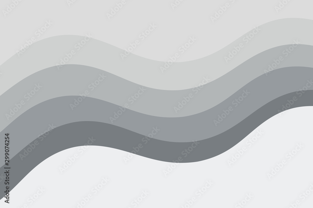 Fototapety, obrazy: Abstract vector gray background with curved lines. Pattern backdrop for landing pages.
