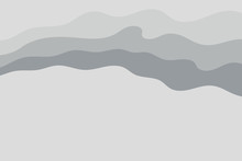 Abstract Vector Gray Background With Curved Lines. Pattern Backdrop For Landing Pages.
