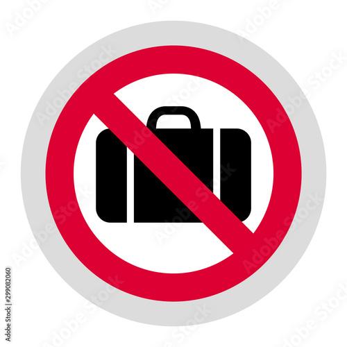 Fotografía No baggage forbidden sign, modern round sticker