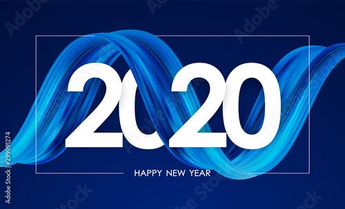 Pinturas sobre lienzo  Happy New Year 2020