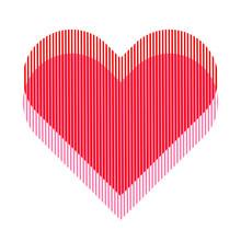 Split Heart Vector Effect In R...