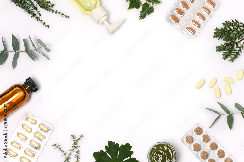Fototapety, obrazy: frame of health care products