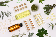 Natural Cosmetics With Pills A...