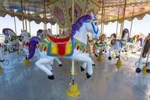 Children Carousel With Horses ...