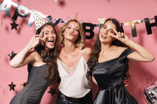 Three Cheerful Pretty Girls We...