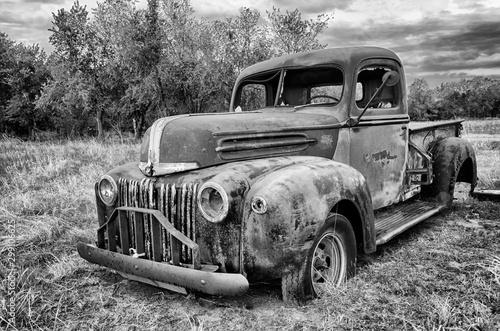 Abandoned 1942 Ford Pickup Truck Wallpaper Mural