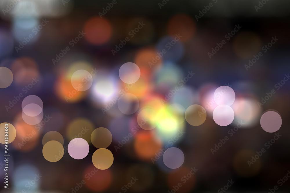 Fototapety, obrazy: mix color bokeh light background