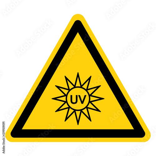 UV Light Symbol Sign, Vector Illustration, Isolate On White Background Label. EPS10 Wall mural