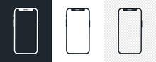 Set Of Black Smartphone Icons....