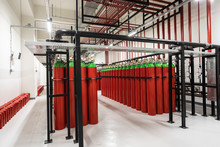 Powerful Industrial Fire Extinguishing System Room.
