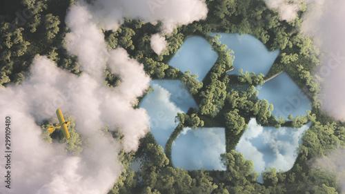 Fototapeta Eco friendly waste management concept