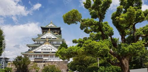 Fototapeta  Castillo de Osaka arquitectura tradicional japonesa
