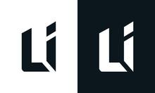 Modern Abstract Letter LI Logo...