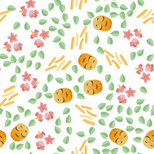 Cute Seamless Pattern With Car...