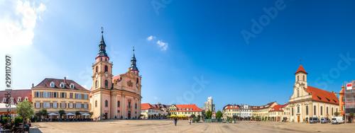 Fotografía  Panorama, Marktplatz, Ludwigsburg, Baden-Württemberg, Deutschland