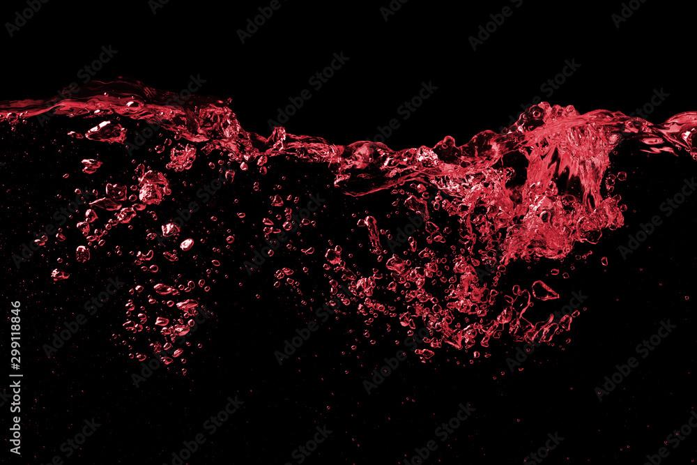 Fototapety, obrazy: Splash wave of red wine