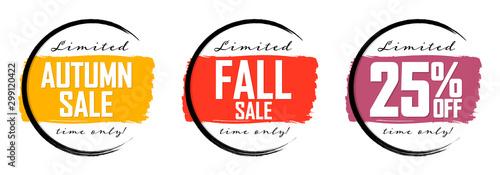 Papel de parede  Autumn Sale, 25% off, Fall discount tag, banners design template, Thanksgiving D