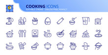 Simple Set Of Outline Icons About Cooking