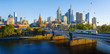 canvas print picture - Panorama view of beautiful Melbourne cityscape skyline