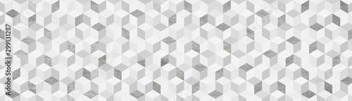 Fényképezés Background  キューブ  グレー系幾何学模様の背景イラスト