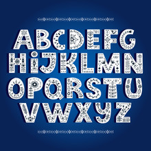 Bold Alphabet Decorated With N...