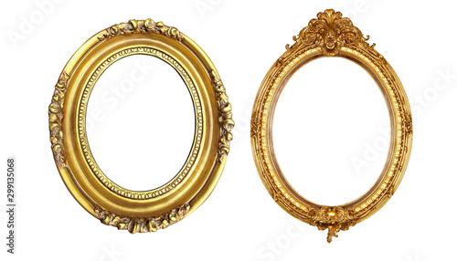Obraz golden picture frame - fototapety do salonu