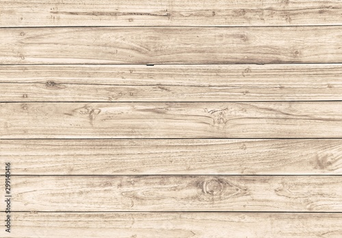 Fotografiet  Light color wood table for wood background and texture.